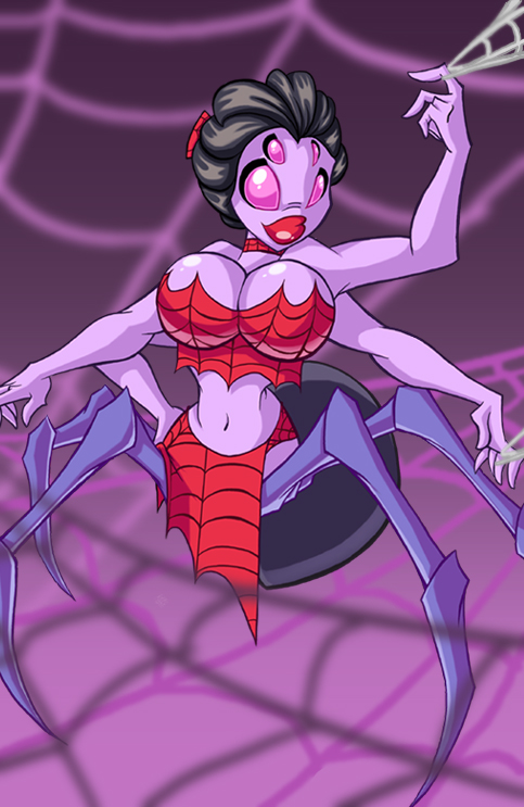 cocooned a in spider's sexy a girl web naked Fred bear from five nights at freddy's
