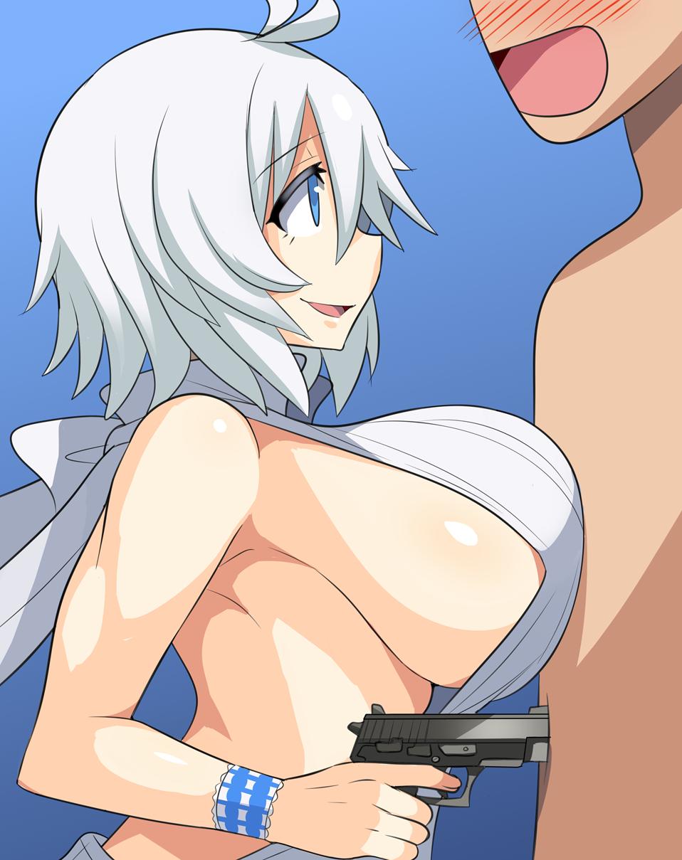 lance shiro x keith x Wolf girl anime with white hair