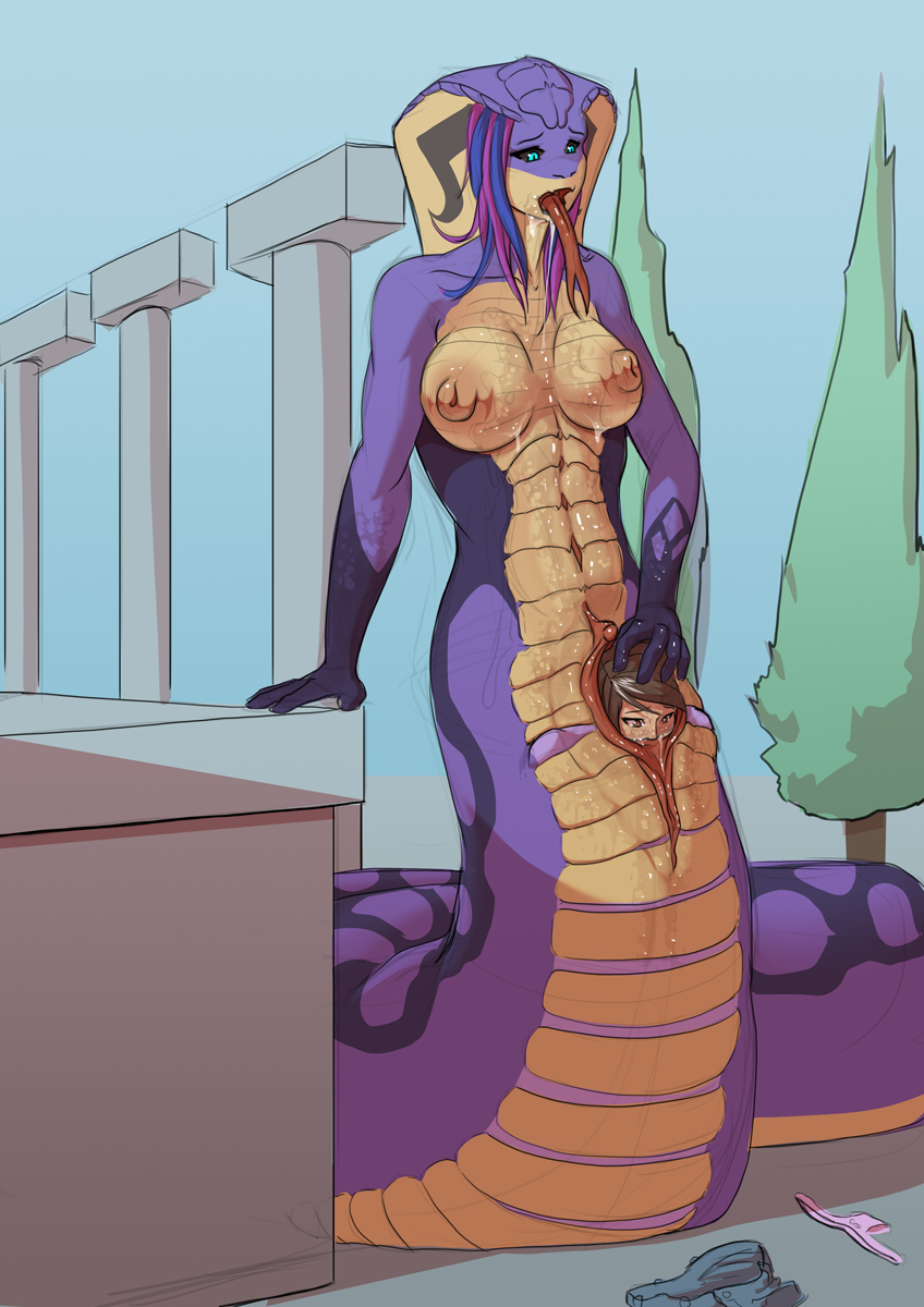lamia difference between naga and Sword maiden of azure dragon