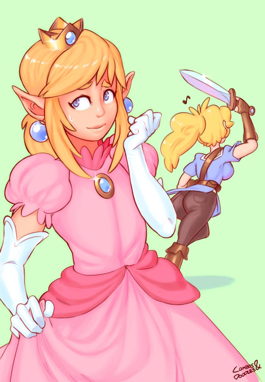 a in princess peach diaper Monster-musume-no-iru-nichijou